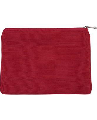 Pochette en juco personnalisable KI0723 - Crimson Red