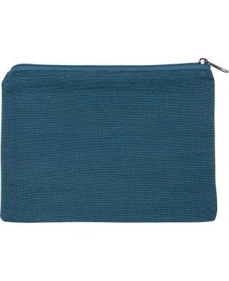 Pochette en juco personnalisable KI0723 - Dusty Blue