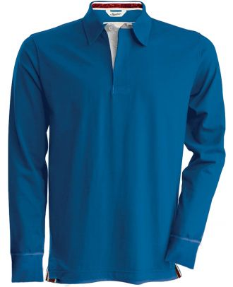 Polo rugby vintage manches longues KV2202 - Vintage Blue