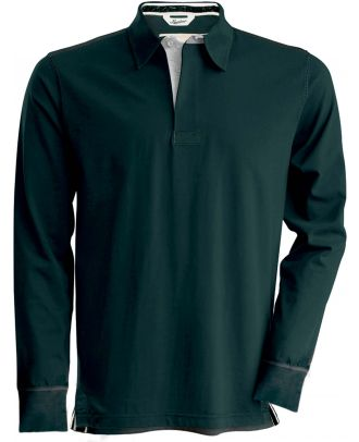 Polo rugby vintage manches longues KV2202 - Vintage Charcoal