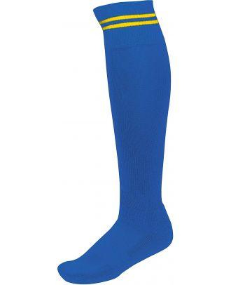 Chaussettes de sport rayées PA015 - Dark royal Blue / Sporty Yellow