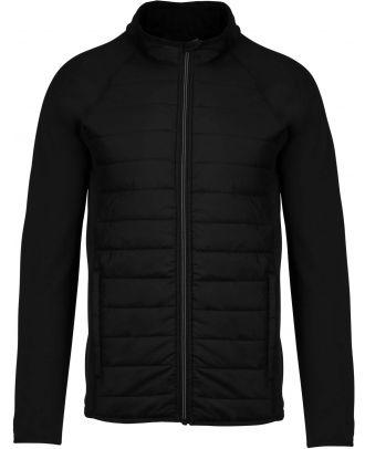Veste sport bi-matière PA233 - Black / Black