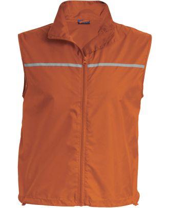 Gilet d'entrainement Runner dos filet PA234 - Orange