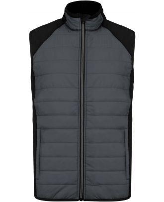Veste sport sans manches bi-matière PA235 - sporty grey / Black