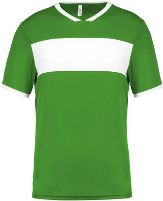 Maillot enfant polyester manches courtes PA4001 - Green / White
