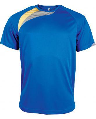 T-shirt sport enfant manches courtes PA437 - Sporty Royal Blue / Sporty Yellow / Storm Grey