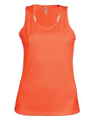 Débardeur femme sport PA442 - Fluorescent Orange