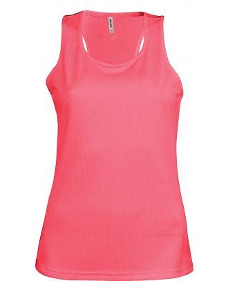 Débardeur femme sport PA442 - Fluorescent Pink