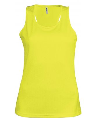Débardeur femme sport PA442 - Fluorescent Yellow