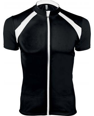 Maillot cycliste homme zippé manches courtes PA447 - Black / White