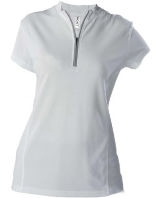 Maillot cycliste cycliste femme polyester manches courtes PA469 - White