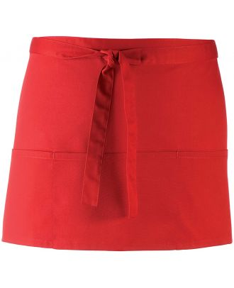 """Tablier taille """"Colours"""" 3 poches PR155 - Red"""