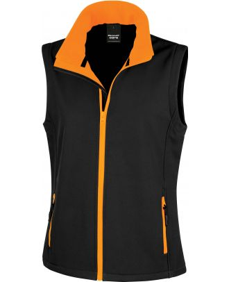Bodywarmer Softshell Femme Printable R232F - Black / Orange