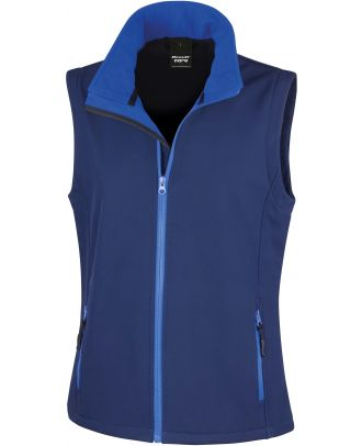 Bodywarmer Softshell Femme Printable R232F - Navy / Royal