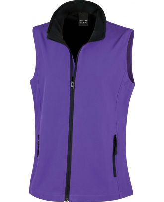 Bodywarmer Softshell Femme Printable R232F - Purple / Black