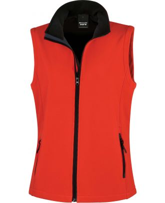 Bodywarmer Softshell Femme Printable R232F - Red / Black