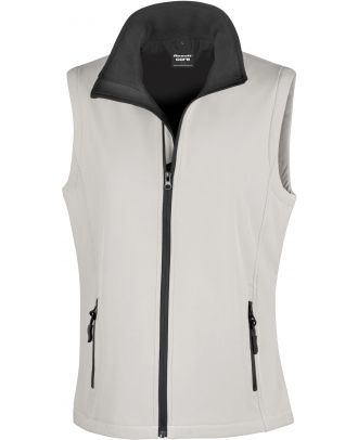 Bodywarmer Softshell Femme Printable R232F - White / Black