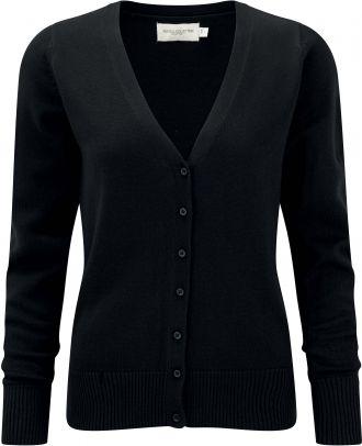 Cardigan femme col V RU715F - Black