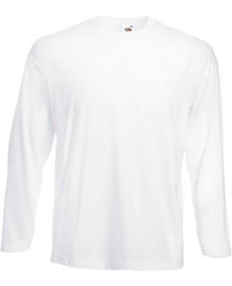 T-shirt homme manches longues Valueweight SC201 - White