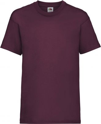 T-shirt enfant manches courtes Valueweight SC221B - Burgundy