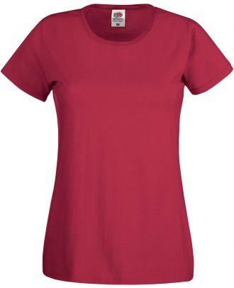 T-shirt femme manches courtes Original-T SC61420 - Brick Red de face