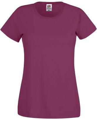 T-shirt femme manches courtes Original-T SC61420 - Burgundy de face