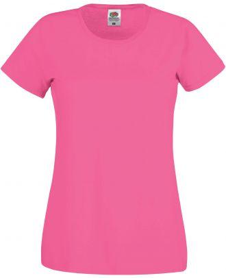 T-shirt femme manches courtes Original-T SC61420 - Fuchsia de face