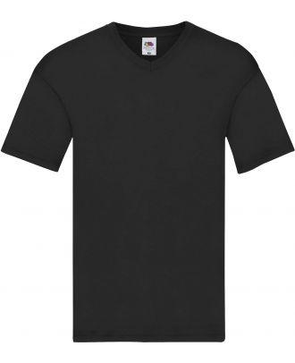 T-shirt homme col V Original-T SC61426 - Black