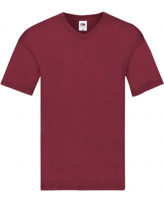 T-shirt homme col V Original-T SC61426 - Brick Red