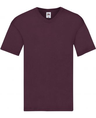 T-shirt homme col V Original-T SC61426 - Burgundy