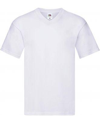 T-shirt homme col V Original-T SC61426 - White