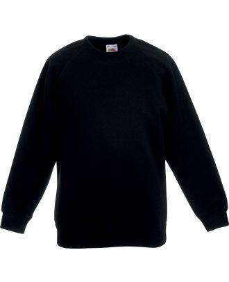 Sweat-shirt enfant manches raglan SC62039 - Black