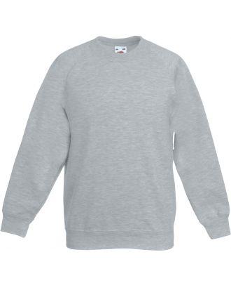 Sweat-shirt enfant manches raglan SC62039 - Heather Grey