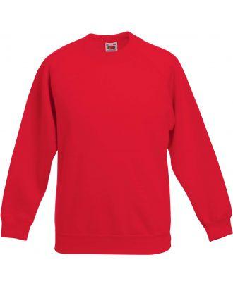 Sweat-shirt enfant manches raglan SC62039 - Red