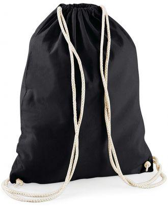 Gymsac en coton W110 - Black - 37 x 46 cm vue de dos
