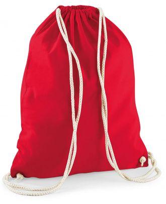 Gymsac en coton W110 - Classic Red - 37 x 46 cm de dos