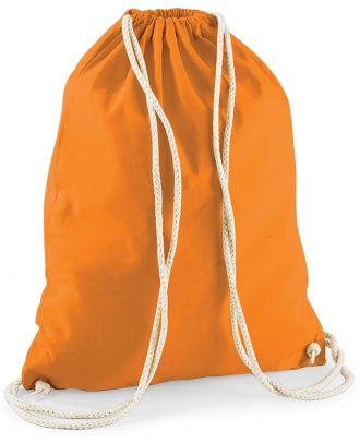 Gymsac en coton W110 - Orange - 37 x 46 cm de dos