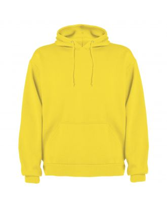 Sweat-shirt capuche avec poche kangourou CAPUCHA jaune