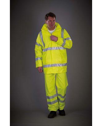 Pantalon de pluie respirant Hi-Vis Soft Flex YHVS451 - Hi Vis Yellow